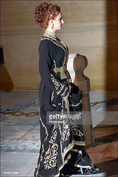 Princess Lalla Salma of Morocco arrives at the Gala Dinner for the wedding of Prince Guillaume Of Luxembourg and Stephanie de Lannoy at the Hotel De...