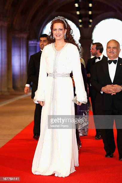 Princess Lalla Salma of Morocco attends a dinner hosted by Queen Beatrix of The Netherlands ahead of her abdication in favour of Crown Prince Willem...
