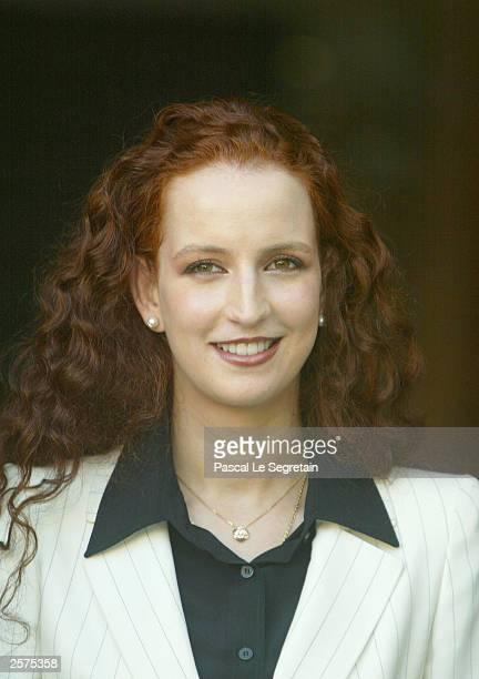 Princess Lalla Salma stands in the courtyard of the Royal Palace October 9 2003 in Fez Morocco French President Jacques Chirac and his wife...