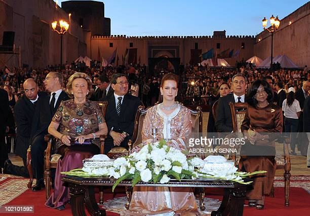 Princess Lalla Salma wife of King Mohammed VI Bernadette Chirac wife of the former French President and Princess Norodom Buppha Devi sister to the...