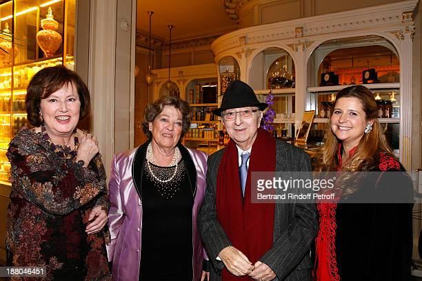 Princess Laure de Beauvau Craon Princess Chantal de France father of Stephane Bern Louis Bern and Princess Diane d'Orleans attend the 50th...