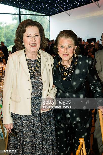 Princess Laure de BeauvauCraon and Princess JeanneMarie de Broglie attend the dinner of Conseil des Grand Crus Classes of 1855 hosted by Chateau...