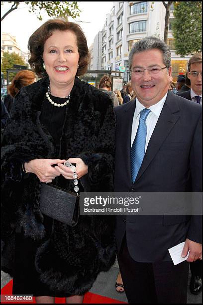 Princess Laure of Beauvau Craon and Dimitri Mavrommatis at Premiere Of Film 'Faubourg 36' At Ugc Normandie In Benefit Of Claude Pompidou Foundation