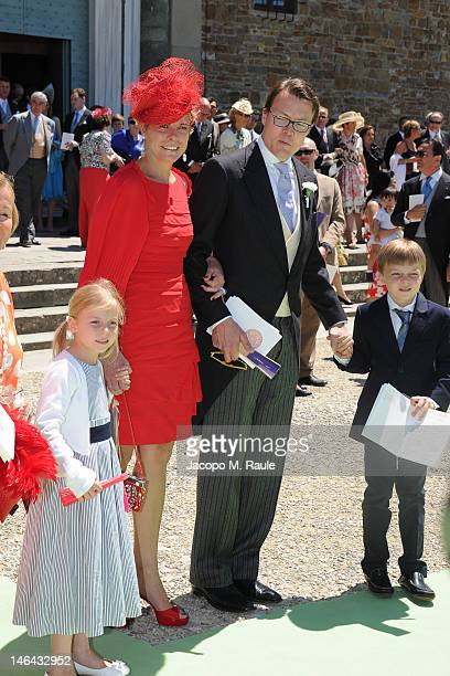 Princess Laurentien and Prince Constantijn of the Netherlands with their children Countess of Orange Leonore and Count of Orange ClausCasimir leave...