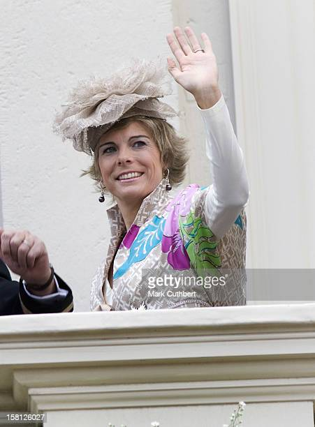 Princess Laurentien Of Holland With The Rest Of The The Dutch Royal Family At Noordeinde Palace In Den Haag During The Prince'S Day Celebrations.