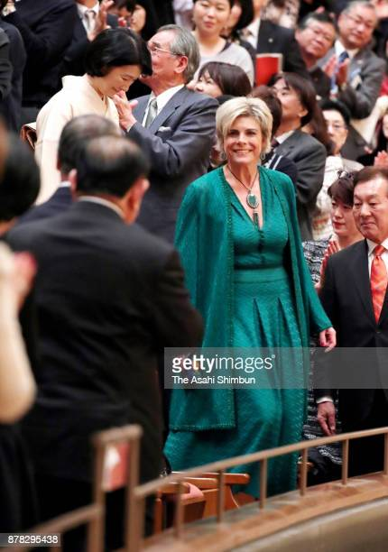 Princess Laurentien of Netherlands and Princess Kiko of Akishino attend a concert of the Royal Concertgebouw Orchestra at Nagasaki Brick Hall on...