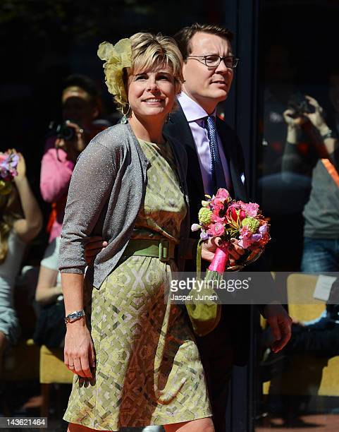 Princess Laurentien of the Netherlands and Prince Constantijn look on during the traditional Queens Day celebrations on April 30 2012 in Veenendaal...