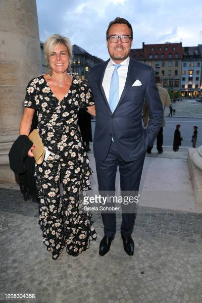 """Princess Laurentien of the Netherlands and Prince Constantijn of the Netherlands during the season opening and world premiere of the opera """"7 Deaths..."""