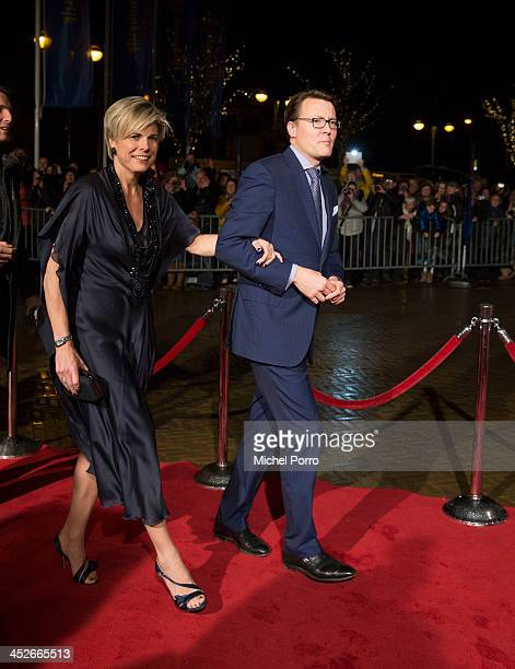 Princess Laurentien of The Netherlands and Prince Constantijn of The Netherlands arrive at the Circus Theatre for celebrations marking the 200th...