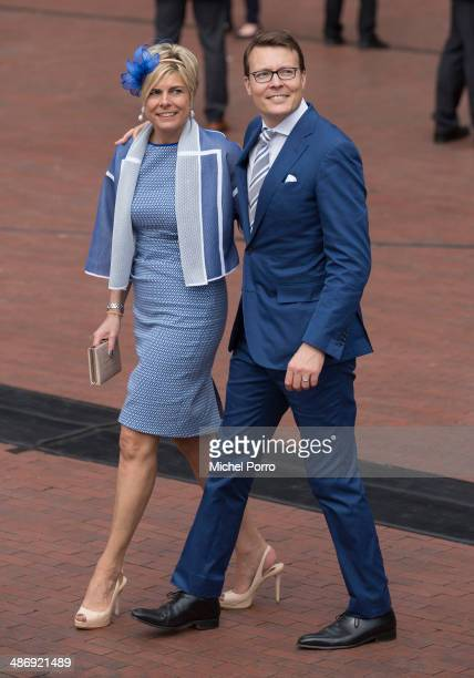 Princess Laurentien of The Netherlands and Prince Constantijn of The Netherlands attend King's Day celebrations on April 26 2014 in Amstelveen...