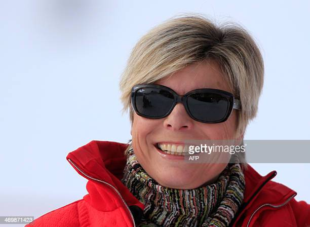 Princess Laurentien of The Netherlands and Prince Constantijn pose at a photocall during their ski holidays in Lech am Arlberg on February 17 2014...