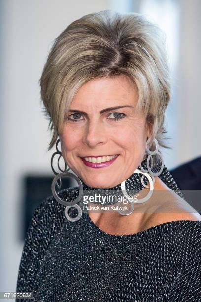 Princess Laurentien of The Netherlands arrives at the Muziekgebouw Aan't IJ for the World Press Photo Award ceremony on April 22, 2017 in Amsterdam,...