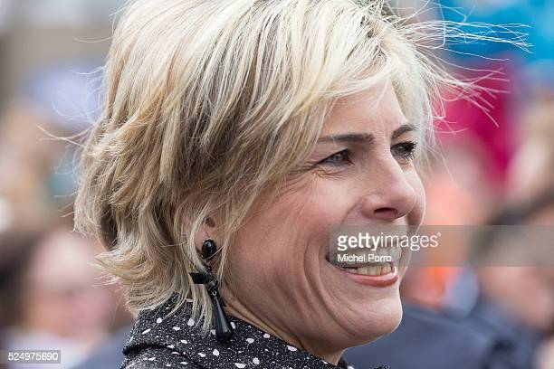 Princess Laurentien of The Netherlands attends celebrations marking the 49th birthday of King Willem-Alexander on King's Day on April 27, 2016 in...