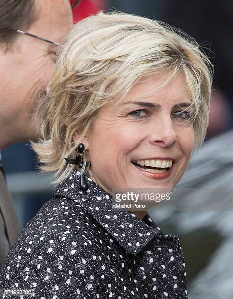 Princess Laurentien of The Netherlands attends celebrations marking the 49th birthday of the king on King's Day on April 27, 2016 in Zwolle,...