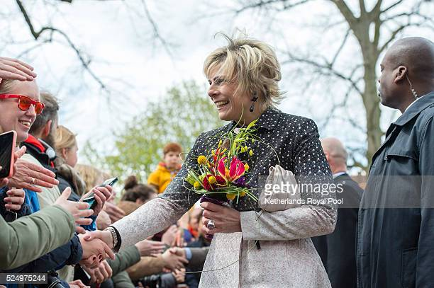 Princess Laurentien of the Netherlands attends King's Day the celebration of the birthday of the Dutch King on April 27 2016 in Zwolle Netherlands...