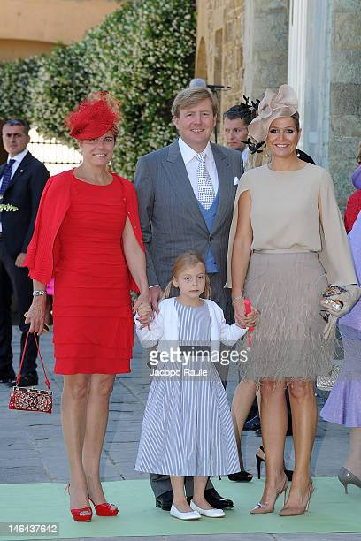 Princess Laurentien of the Netherlands, Countess of Orange Leonore, Prince Willem-Alexander and Princess Maxima of the Netherlands arrive for the...
