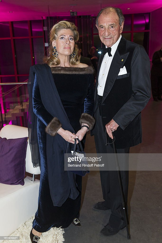 Princess Lea of Belgium, acting as honorary chairperson of the event, and Zahedi Ardeshir, former Iranian diplomat, attend the 30th edition of 'La Nuit Des Neiges' Charity Gala on February 16, 2013 in Crans-Montana, Switzerland.