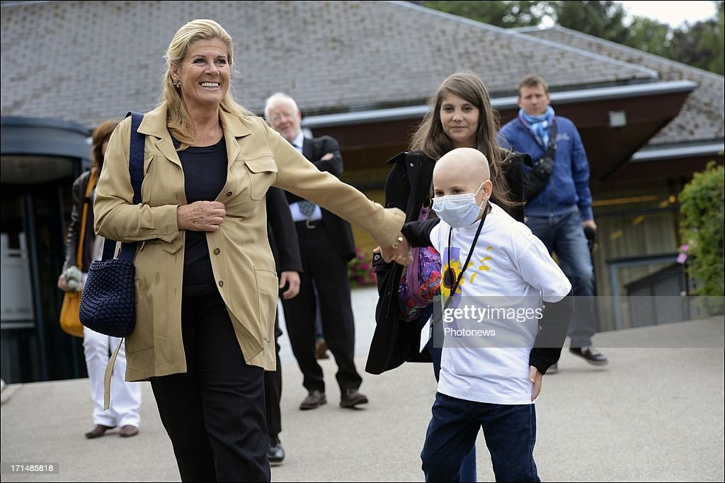 Princess Lea visits Camp Tournesol on June 25, 2013 in Spa, Belgium. Camp Tournesol was created to help kids suffering from cancer.
