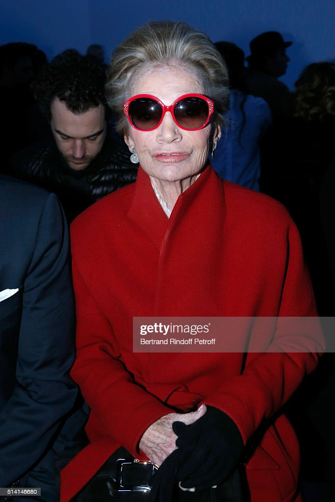 Princess Lee Radziwill attends the Giambattista Valli show as part of the Paris Fashion Week Womenswear Fall/Winter 2016/2017 on March 7, 2016 in Paris, France.