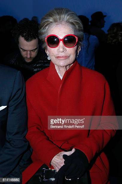 Princess Lee Radziwill attends the Giambattista Valli show as part of the Paris Fashion Week Womenswear Fall/Winter 2016/2017 on March 7, 2016 in...