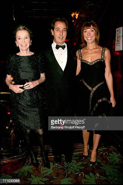 Princess Lee Radziwill Gilles Dufour and Mathilde Agostinelli Dinner at Maxim's to the benefit of the Fondation Motrice for which Andrea Casiraghi...