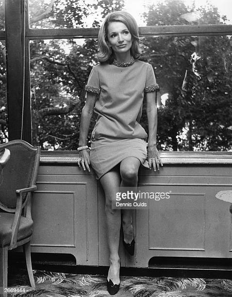 Princess Lee Radziwill sister of Jacqueline Kennedy in London's Savoy Hotel. She is in England to play the title role in a TV film, 'Laura' produced...