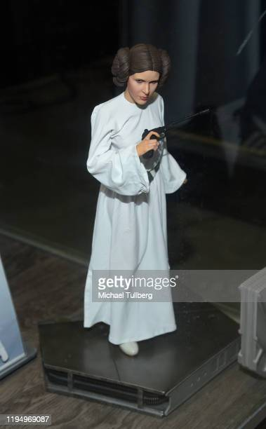 """Princess Leia figure belonging to actress Carrie Fisher at the Carrie Fisher pop-up museum """"The Todd Fisher Collection"""" at TCL Chinese Theatre on..."""