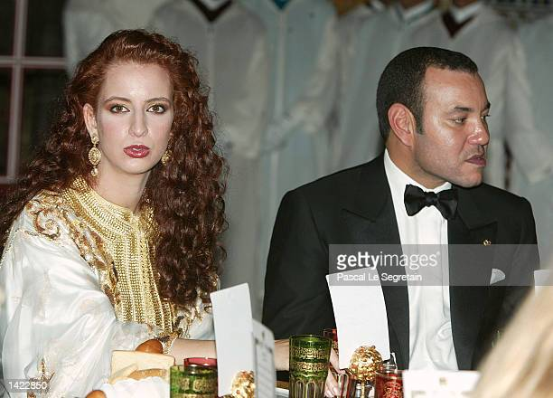 Princess Leila Salma wife of King of Morocco Mohamed VI during a Gala Dinner hosted by his Majesty King Mohammed VI at the Royal Palace during the...