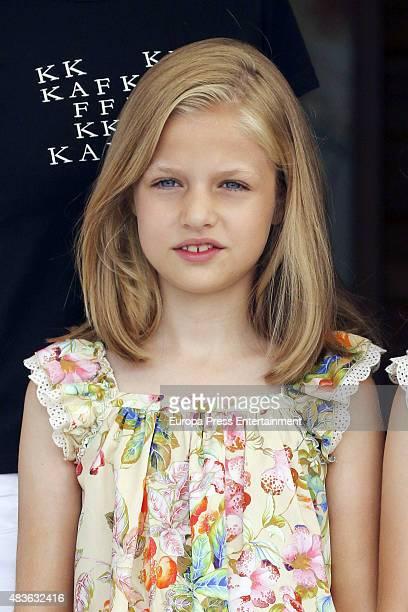 Princess Leonor attends 34th Copa del Rey Mapfre Sailing Cup Awards Ceremony on August 8 2015 in Palma de Mallorca Spain