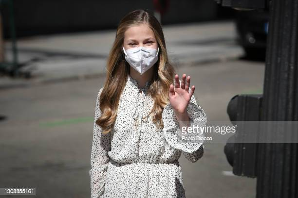 Princess Leonor attends the 30th Anniversary of the Cervantes Institute on March 24, 2021 in Madrid, Spain.