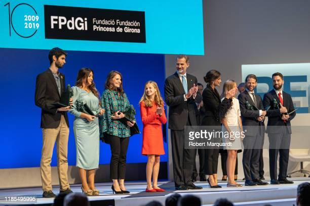 Princess Leonor de Borbon amd King Felipe VI of Spain seen attending the Princesa de Girona Foundation Awards on November 04 2019 in Barcelona Spain