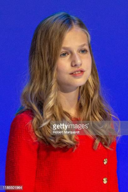 Princess Leonor de Borbon seen attending the Princesa de Girona Foundation Awards on November 04 2019 in Barcelona Spain