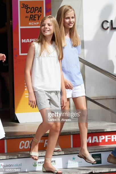 Princess Leonor of Spain and Princess Sofia of Spain attend the 38th Copa del Rey Mapfre Sailing Cup on August 01, 2019 in Palma de Mallorca, Spain.