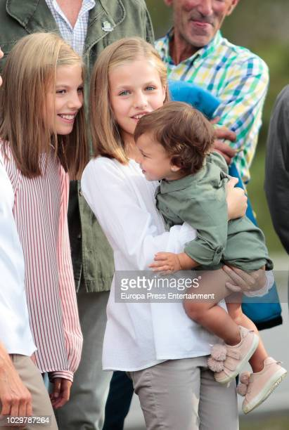 Princess Leonor of Spain and Princess Sofia of Spain attend the Centenary of the creation of the National Park of Covadonga's Mountain and the...