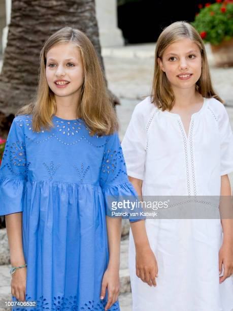 Princess Leonor of Spain and Princess Sofia of Spain on July 29 2018 in Palma de Mallorca Spain