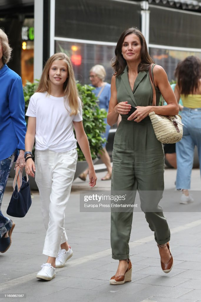 Spanish Royals Family Sighting In Mallorca- August 1, 2019 : News Photo