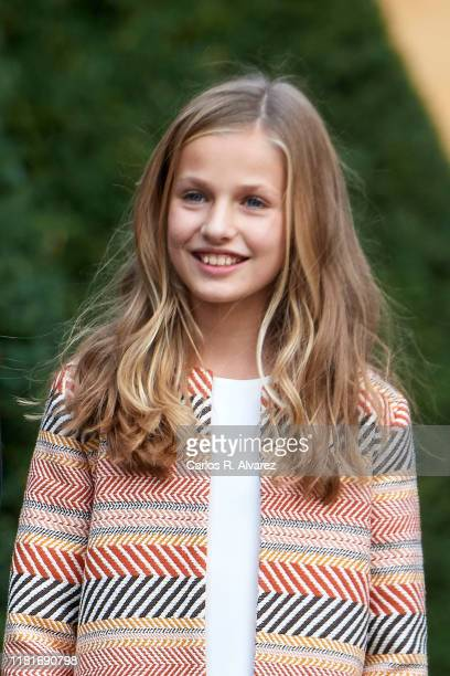 Princess Leonor of Spain arrives at Oviedo Cathedral ahead of the 'Princesa de Asturias Awards' 2019 on October 17, 2019 in Oviedo, Spain.