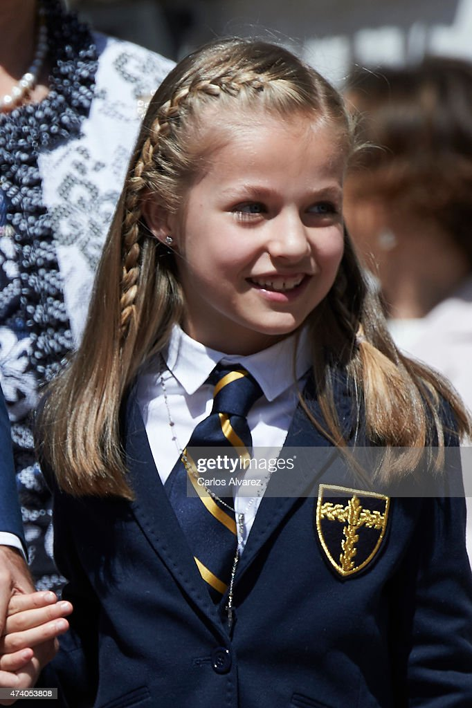 Spanish Royals Attend Their Daughter Leonor's First Communion : News Photo