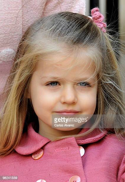 Princess Leonor of Spain attends Easter Mass at Palma de Mallorca Cathedral on April 4 2010 in Palma de Mallorca Spain