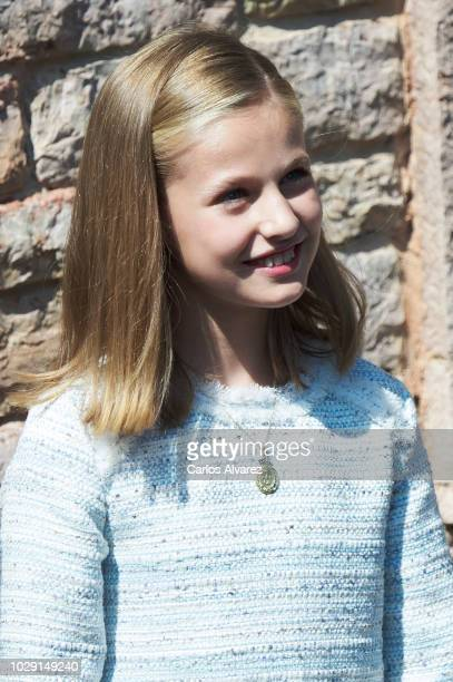 Princess Leonor of Spain attends the 13rd centenary of the Kingdom of Asturias at Basilica de Covadonga September 8, 2018 in Covadonga, Spain.