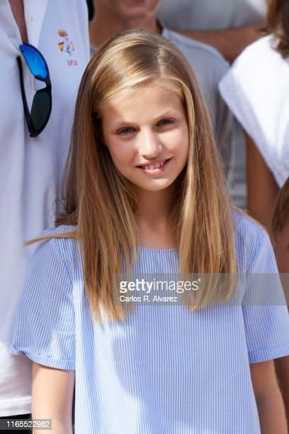 Princess Leonor of Spain attends the 38th Copa del Rey Mapfre Sailing Cup on August 01, 2019 in Palma de Mallorca, Spain.