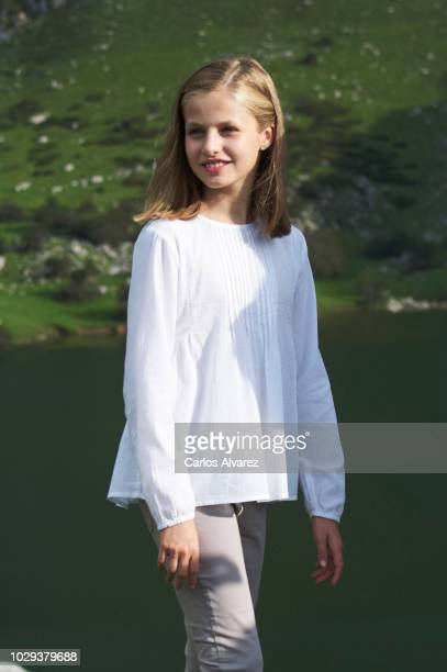 Princess Leonor of Spain attends the Centenary of the creation of the National Park of Covadonga's Mountain and the opening of the Princess of...