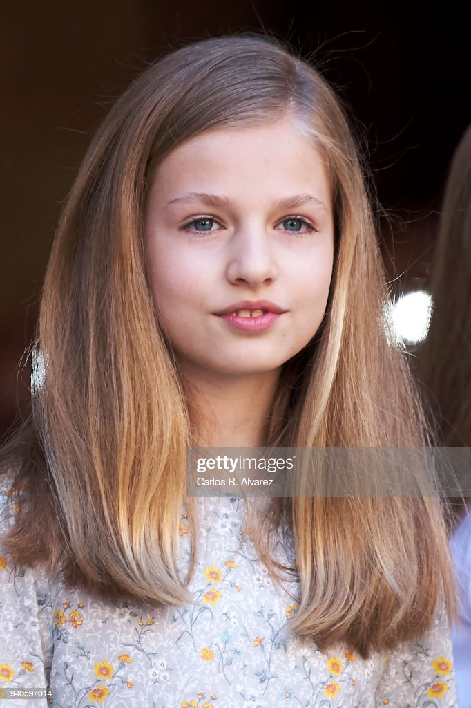 Princess Leonor of Spain attends the Easter mass on April 1, 2018 in Palma de Mallorca, Spain.