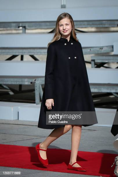 Princess Leonor of Spain attends the solemn opening of the 14th legislature at the Spanish Parliament on February 03, 2020 in Madrid, Spain.