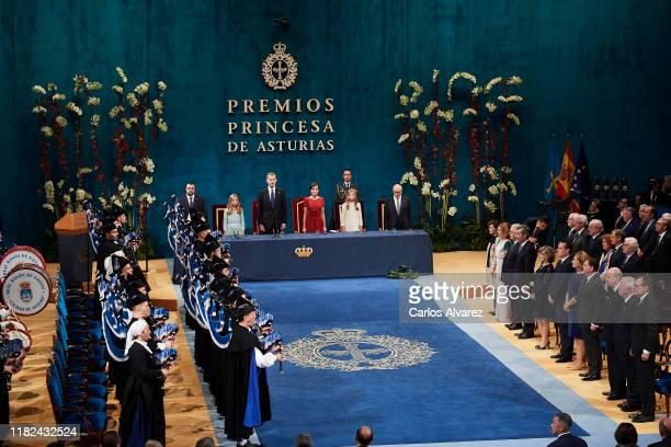 Princess Leonor of Spain, King Felipe VI of Spain, Queen Letizia of Spain and Princess Sofia of Spain attend the Princesa de Asturias Awards 2019...