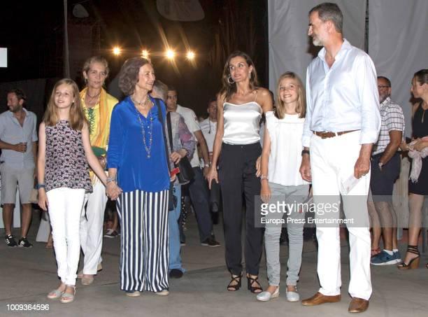 Princess Leonor of Spain Princess Elena Queen Sofia Queen Letizia of Spain Princess Sofia of Spain and King Felipe VI of Spain attend Ara Malikian's...