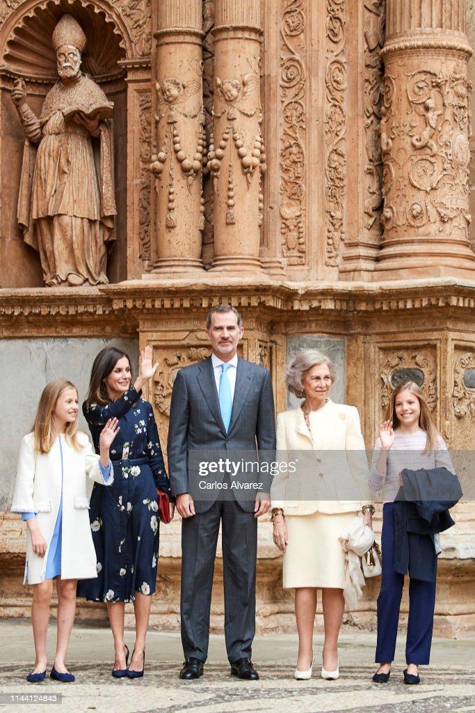 ESP: Spanish Royals Attend Easter Mass in Palma de Mallorca