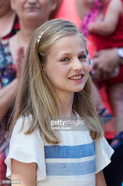 Princess Leonor of Spain visits the Can Prunera Museum on August 6 2017 in Palma de Mallorca Spain