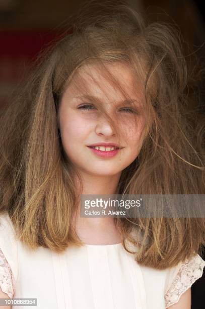Princess Leonor of Spain visits the Royal Nautic Club the last day of the 37th Copa del Rey Mapfre sailing cup on August 4 2018 in Palma de Mallorca...