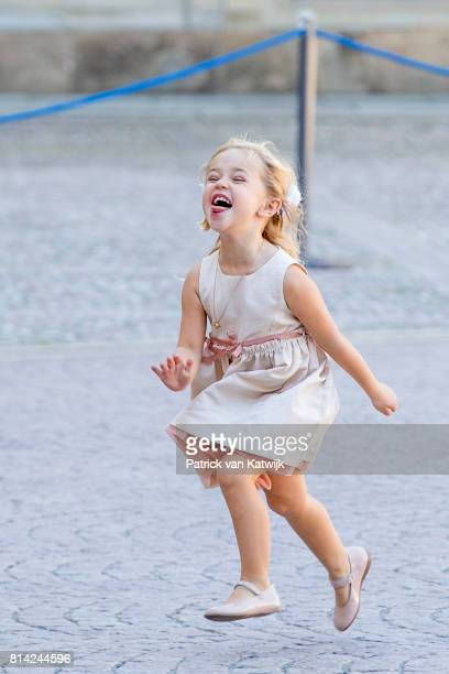 Princess Leonore of Sweden after the thanksgiving service on the occasion of The Crown Princess Victoria of Sweden's 40th birthday celebrations at...